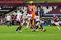 Emiliano Martinez of Aston Villa catches a cross during West Ham United vs Aston Villa, Premier League Football at The London Stadium on 30th November 2020