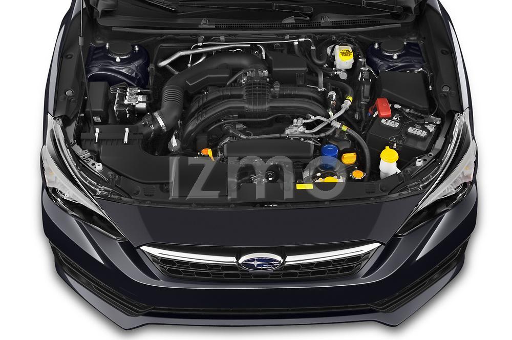 Car Stock 2021 Subaru Impreza - 5 Door Hatchback Engine  high angle detail view