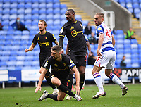 3rd October 2020; Madejski Stadium, Reading, Berkshire, England; English Football League Championship Football, Reading versus Watford; George Puscas of Reading watches his shot into the net in 41st minute 1-0