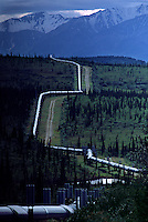 The trans-Alaska pipeline carries Prudhoe Bay oil south. North of the Yukon River, BLM land encloses both.