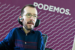 Pablo Echenique, Secretary of Organization, during the Consejo Ciudadano Estatal - State Citizen Council of Podemos. (ALTERPHOTOS/Acero)