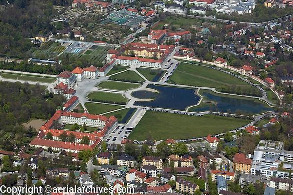 aerial photograph of the Nymphenburg Palace, Munich, Germany | Luftbild Schloss Nymphenburg, München, Deutschland