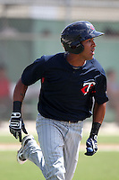 Minnesota Twins second baseman Eddie Rosario #11 during an Instructional League game against the Boston Red Sox at Red Sox Minor League Training Complex in Fort Myers, Florida;  October 3, 2011.  (Mike Janes/Four Seam Images)