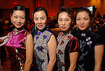 Yan Kung, Limei Han, Ging Chen and Lisa Chen at the Asia Society Gala at the InterContinental Houston Hotel Thursday Feb. 26, 2009.(Dave Rossman/For the Chronicle)