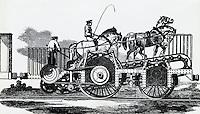 Four-horsepower Locomotive In Action, 1850 Artist Unknown