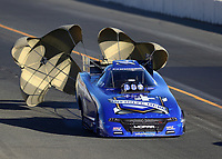Jul 29, 2017; Sonoma, CA, USA; NHRA funny car driver Jack Beckman during qualifying for the Sonoma Nationals at Sonoma Raceway. Mandatory Credit: Mark J. Rebilas-USA TODAY Sports