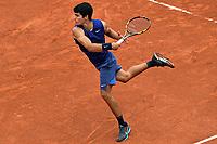 5th June 2021; Roland Garros, Paris France; French Open tennis championships day 7;  Carlos Alcaraz - Esp