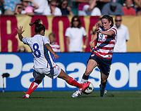 Heather O'Reilly, Daniela  Cruz.  The USWNT defeated Costa Rica, 8-0, during a friendly match at Sahlen's Stadium in Rochester, NY.