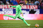Goalkeeper Sergio Alvarez Conde of RC Celta de Vigo in action during their La Liga match between Atletico de Madrid and RC Celta de Vigo at the Vicente Calderón Stadium on 12 February 2017 in Madrid, Spain. Photo by Diego Gonzalez Souto / Power Sport Images