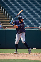 Binghamton Rumble Ponies Dustin Houle (14) bats during an Eastern League game against the Bowie Baysox on August 21, 2019 at Prince George's Stadium in Bowie, Maryland.  Bowie defeated Binghamton 7-6 in ten innings.  (Mike Janes/Four Seam Images)
