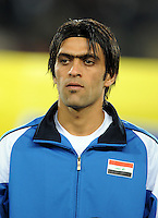 Ali Hussein Rehema of Iraq. Iraq and New Zealand tied 0-0 during the FIFA Confederations Cup at Ellis Park Stadium in Johannesburg, South Africa on June 20, 2009..