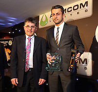 Pictured: Lukasz Fabianski receiving the players' player of the season award Wednesday 20 May 2015<br />