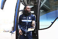 Anthony Stewart of Wycombe Wanderers arriving for the Sky Bet League 1 match between Shrewsbury Town and Wycombe Wanderers at Greenhous Meadow, Shrewsbury, England on 16 March 2019. Photo by Leila Coker / PRiME Media Images.