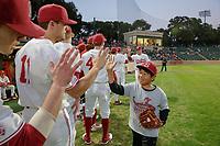 STANFORD, CA - February 16, 2018: Stanford Baseball vs Cal State Fullerton on Opening Day at Sunken Diamond.  Stanford won 5-1.