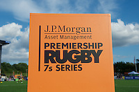 20130803 Copyright onEdition 2013 ©<br />Free for editorial use image, please credit: onEdition.<br /><br />J.P. Morgan Asset Management branding during the J.P. Morgan Asset Management Premiership Rugby 7s Series.<br /><br />The J.P. Morgan Asset Management Premiership Rugby 7s Series kicks off for the fourth season on Thursday 1st August with Pool A at Kingsholm, Gloucester with Pool B being played at Franklin's Gardens, Northampton on Friday 2nd August, Pool C at Allianz Park, Saracens home ground, on Saturday 3rd August and the Final being played at The Recreation Ground, Bath on Friday 9th August. The innovative tournament, which involves all 12 Premiership Rugby clubs, offers a fantastic platform for some of the country's finest young athletes to be exposed to the excitement, pressures and skills required to compete at an elite level.<br /><br />The 12 Premiership Rugby clubs are divided into three groups for the tournament, with the winner and runner up of each regional event going through to the Final. There are six games each evening, with each match consisting of two 7 minute halves with a 2 minute break at half time.<br /><br />For additional images please go to: http://www.w-w-i.com/jp_morgan_premiership_sevens/<br /><br />For press contacts contact: Beth Begg at brandRapport on D: +44 (0)20 7932 5813 M: +44 (0)7900 88231 E: BBegg@brand-rapport.com<br /><br />If you require a higher resolution image or you have any other onEdition photographic enquiries, please contact onEdition on 0845 900 2 900 or email info@onEdition.com<br />This image is copyright the onEdition 2013©.<br /><br />This image has been supplied by onEdition and must be credited onEdition. The author is asserting his full Moral rights in relation to the publication of this image. Rights for onward transmission of any image or file is not granted or implied. Changing or deleting Copyright information is illegal as specified in the Copyright, Design and Patents Act 1988. If you are in any 