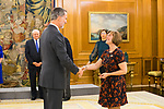 King Felipe VI of Spain attends audience with a group of congressmen of the United States of America.December 03, 2019.<br /> (ALTERPHOTOS/Francis Gonzalez)