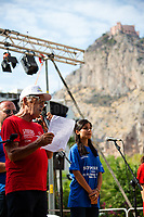 """We are here to fight for Truth and Justice""- Salvatore Borsellino - Magistrate Paolo Borsellino's brother and founder of the Movement Agende Rosse/Red Notebooks Movement.<br />