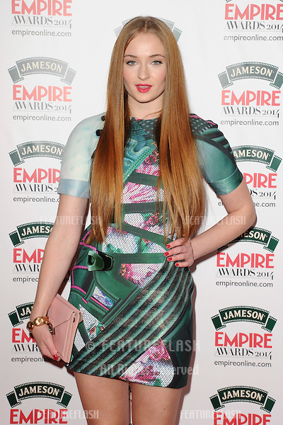Sophie Turner<br /> arives for the Empire Magazine Film Awards 2014 at the Grosvenor House Hotel, London. 30/03/2014 Picture by: Steve Vas / Featureflash
