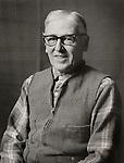 Black and white portrait of John Miller in 1972.