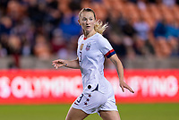 HOUSTON, TX - JANUARY 28: Sam Mewis #3 of the United States sprints during a game between Haiti and USWNT at BBVA Stadium on January 28, 2020 in Houston, Texas.