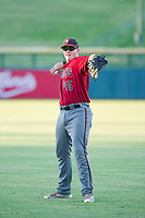 AZL Diamondbacks Jordan McArdle (45) warms up in the outfield prior to the game against the AZL Cubs on August 11, 2017 at Sloan Park in Mesa, Arizona. AZL Cubs defeated the AZL Diamondbacks 7-3. (Zachary Lucy/Four Seam Images)