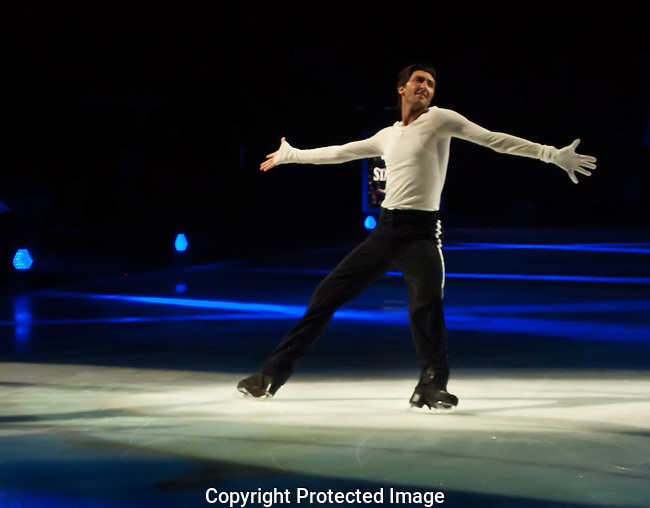 The Skater Extends His Arms