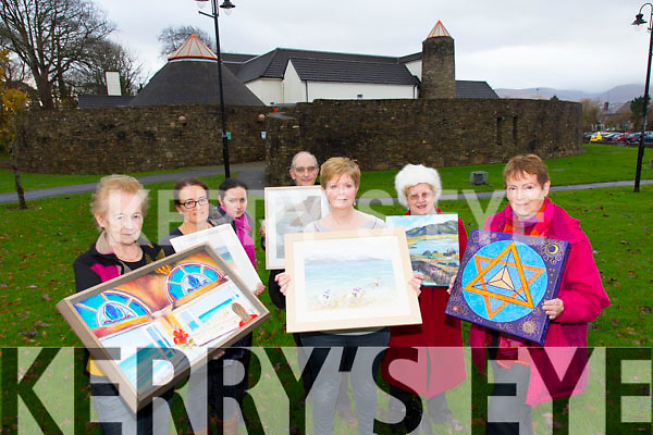 Mary Cotter, Jane Deasy, Renata Baitkabiceute, Adrian Evison, Liz Collins, Angela Kerins, Krista Vonhof launch the Tralee Art Group annual exhibition opens at Siamsa Tire on Saturday the 13th of December, running until the beginning of February