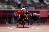 27th August 2021; Tokyo, Japan; Tomoki Sato (JPN), Men's 400m T52 Qualification at the Olympic Stadium <br /> during Tokyo 2020 Paralympic Games in Tokyo, Japan.