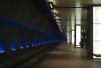 Lower level high speed train platform of Antwerp's Central Station