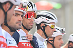 Vincenzo Nibali (ITA) and Trek-Segafredo at sign on before the start of Stage 10 of the 103rd edition of the Giro d'Italia 2020 running 177km from Lanciano to Tortoreto, Italy. 13th October 2020.  <br /> Picture: LaPresse/Massimo Paolone | Cyclefile<br /> <br /> All photos usage must carry mandatory copyright credit (© Cyclefile | LaPresse/Massimo Paolone)
