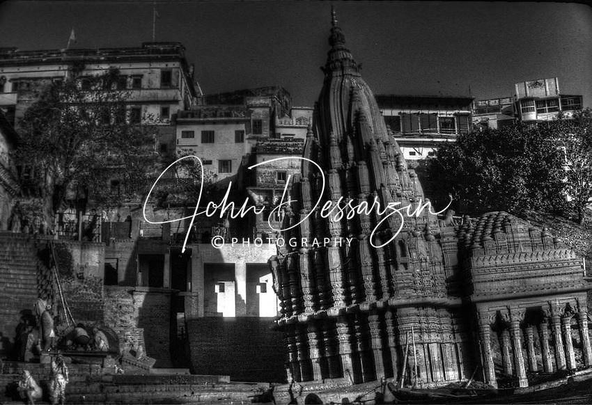 The Ghats Temple in Varanasi Uttar Pradesh India