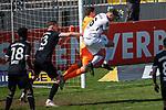 Rene Vollath #1 (Tuerkguecue Muenchen), Florian Egerer #16 (SV Meppen), Tuerkguecue Ataspor Muenchen vs. SV Meppen, 04.04.2021<br /> <br /> DFB regulations prohibit any use of photographs as image sequences and/or quasi-video<br /> <br /> Foto © PIX-Sportfotos *** Foto ist honorarpflichtig! *** Auf Anfrage in hoeherer Qualitaet/Aufloesung. Belegexemplar erbeten. Veroeffentlichung ausschliesslich fuer journalistisch-publizistische Zwecke. For editorial use only.