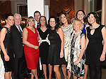 Suzie Balfe, Noel Reilly, Shauna McDonnell, Nicki Shevlin, Benny Curtis, Ruth Kerr, Bernie Carroll, Jean Shevlin, Emma Woods and Felicity Carroll pictured at the Ardee Traders Awards night in the Nuremore hotel Carrickmacross. Photo:Colin Bell/pressphotos.ie