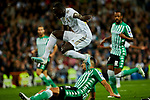 Ferland Mendy of Real Madrid and Alex Moreno of Real Betis Balompie during La Liga match between Real Madrid and Real Betis Balompie at Santiago Bernabeu Stadium in Madrid, Spain. November 02, 2019. (ALTERPHOTOS/A. Perez Meca)