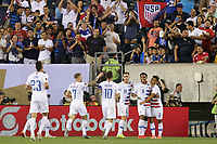 PHILADELPHIA, PENNSYLVANIA - JUNE 30: Weston McKennie #8 celebrates scoring during the 2019 CONCACAF Gold Cup quarterfinal match between the United States and Curacao at Lincoln Financial Field on June 30, 2019 in Philadelphia, Pennsylvania.