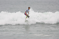 American Evan Geiselman launching a huge air during round of 48 at the 2010 US Open of Surfing in Huntington Beach, California on August 5, 2010.