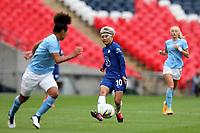 29th August 2020; Wembley Stadium, London, England; Community Shield Womens Final, Chelsea versus Manchester City; Ji So-yun of Chelsea Women passes a through ball the Man City defense