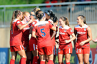 Boyds, MD - Saturday August 12, 2017: Washington Spirit Cheyna Williams goal celebration during a regular season National Women's Soccer League (NWSL) match between the Washington Spirit and The Boston Breakers at Maureen Hendricks Field, Maryland SoccerPlex.