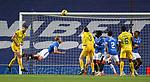 25.10.2020 Rangers v Livingston: Filip Helander with a flying header to clear off the line