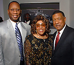 Benjamin Hall, Carol Galloway and Gene Locke at the NAACP's Hollywood Comes to Houston party at Advantage BMW Thursday  Feb. 12, 2009.(Dave Rossman/For the Chronicle)