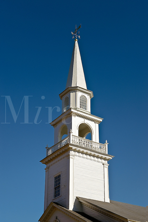Church steeple and spire, Woodstock, Connecticut, CT