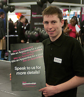 """Advertising the """"Win an apprentice for a year"""" promotion, Kent2020Vision show, County Showground, Kent."""