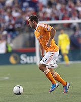 Houston Dynamo forward Will Bruin (12) at midfield. In a Major League Soccer (MLS) match, the New England Revolution tied Houston Dynamo, 2-2, at Gillette Stadium on May 19, 2012.