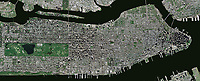 aerial photo map Manhattan, New York City, 2009. For more recent aerial photo maps of any portion of New York City, please contact Aerial Archives.