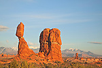 Balanced Rock at sunset in Arches National Park, Utah, USA