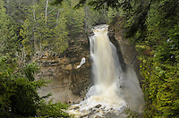 The spring rush at Miners Falls in the Pictured Rocks National Lakeshore. Munising, MI