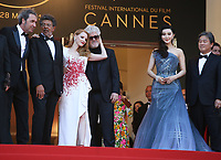 PAOLO SORRENTINO, GABRIEL YARED, JESSICA CHASTAIN, PEDRO ALMODOVAR, FAN BINGBING AND PARK CHAN-WOOK - RED CARPET OF THE CLOSING CEREMONY AT THE 70TH FESTIVAL OF CANNES 2017