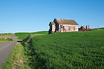 Farm roads criss cross the Palouse Hills of Washington State, providing unlimited landscapes and views.