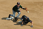 Aberdeen, MD: Brandt Burrows of Tampa slides into second as Alec Cook of Willamette Valley moves towards the ball during Thursday afternoon's game at the 2009 Cal Ripken World Series