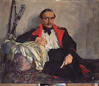 Portrait of the poet Mikhail Lermontov (1814-1841)<br />